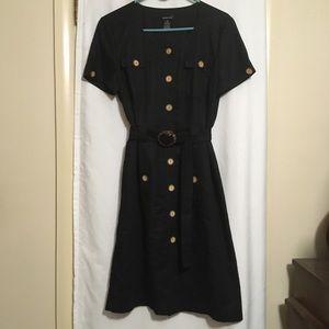 Black linen/cotton blend dress. Size 10. Comfy.
